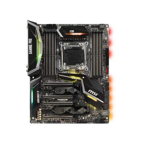 Материнская плата MSI X299 GAMING PRO CARBON, LGA 2066, Intel X299, ATX, Ret msi p43 neo f original used desktop motherboard p43 socket lga 775 ddr2 16g sata2 usb2 0 atx