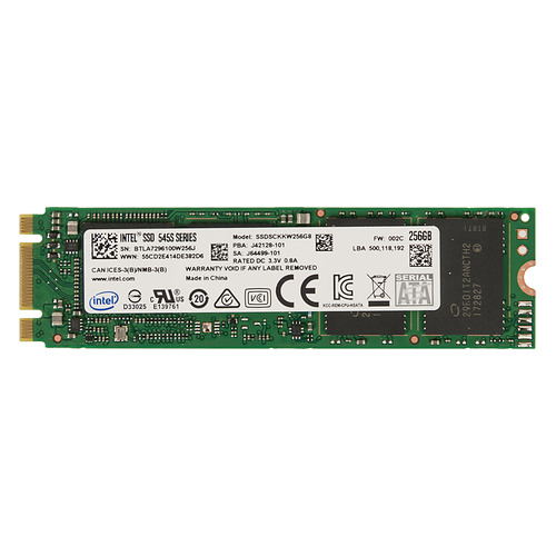 SSD накопитель INTEL 545s Series SSDSCKKW256G8X1 256Гб, M.2 2280, SATA III [ssdsckkw256g8x1 958687] ssd накопитель silicon power m series sp120gbss3m55m28 120гб m 2 2280 sata iii
