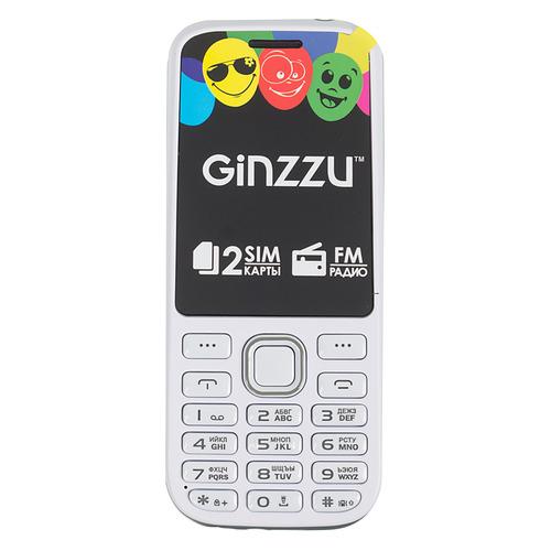 Мобильный телефон GINZZU M201, белый/серый сотовый телефон ginzzu m201 black