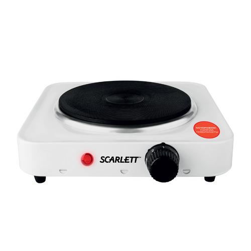 Фото - Плита Электрическая Scarlett SC-HP700S01 белый эмаль (настольная) плита электрическая мечта 111ч черный эмаль настольная