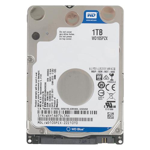 Жесткий диск WD Blue WD10SPZX, 1Тб, HDD, SATA III, 2.5 жесткий диск wd blue wd10ezrz 1тб hdd sata iii 3 5