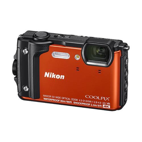 Фото - Цифровой фотоаппарат NIKON CoolPix W300, оранжевый ремешок для смарт часов semolina ремешок силиконовый для apple watch 42 мм gx28 оранжевый оранжевый