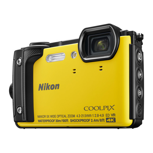 Фото - Цифровой фотоаппарат NIKON CoolPix W300, желтый фотоаппарат nikon coolpix w300 камуфляж