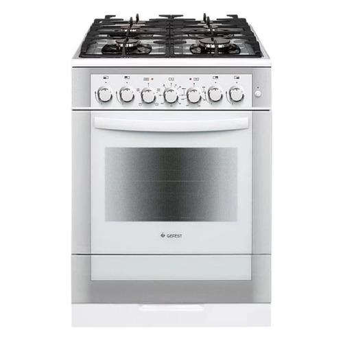Газовая плита GEFEST ПГЭ 6502-02 0042, электрическая духовка, белый цена 2017
