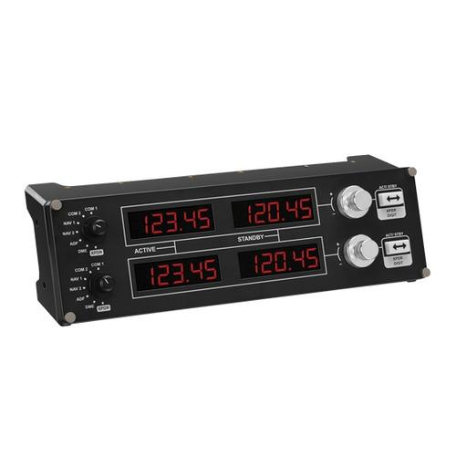 Панель радиоприборов проводной LOGITECH G Saitek Pro Flight черный [945-000011]