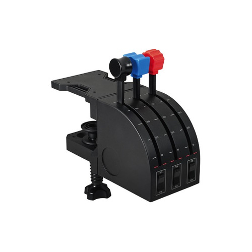 Блок рычагов проводной LOGITECH G Saitek Pro Flight Throttle Quadrant черный [945-000015]
