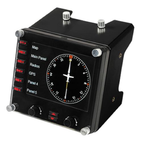 Панель радиоприборов проводной LOGITECH G Saitek Pro Flight Instrument Panel черный [945-000008]