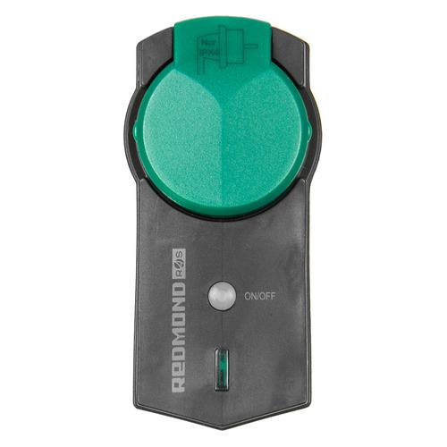 Умная розетка Redmond RSP-R2S EU VDE Wi-Fi черный/зеленый цена и фото