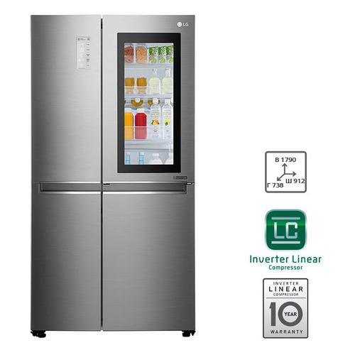 цена Холодильник LG GC-Q247CABV, двухкамерный, нержавеющая сталь