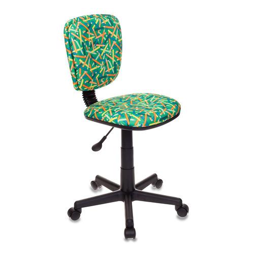 Кресло детское БЮРОКРАТ CH-204NX, на колесиках, ткань, зеленый [ch-204nx/pencil-gn] ch 204nx cactus gn