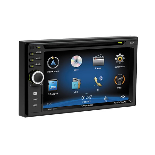Автомагнитола PROLOGY MDN-2775, USB, SD автомобильный dvd плеер lg 2 din mazda 5 dvd gps tv 3g wifi bt usb sd 8