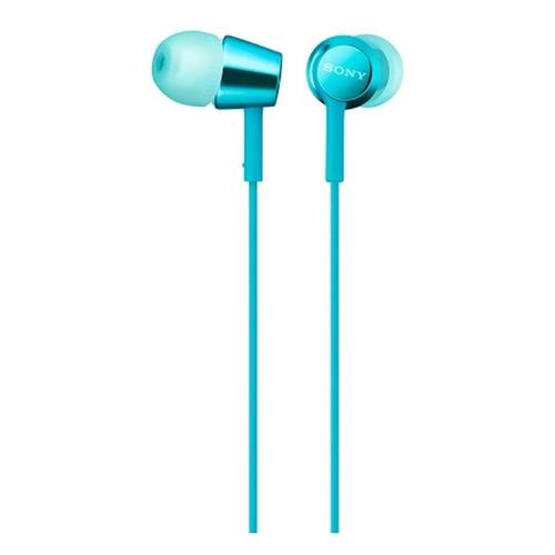 Фото - Гарнитура SONY MDR-EX155AP, 3.5 мм, вкладыши, голубой [mdrex155apl.e] наушники sony mdr ex155ap ligth blue