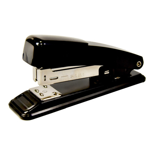 цена на Степлер Silwerhof 401073-01 24/6 26/6 (15листов) черный металл коробка 12 шт./кор.