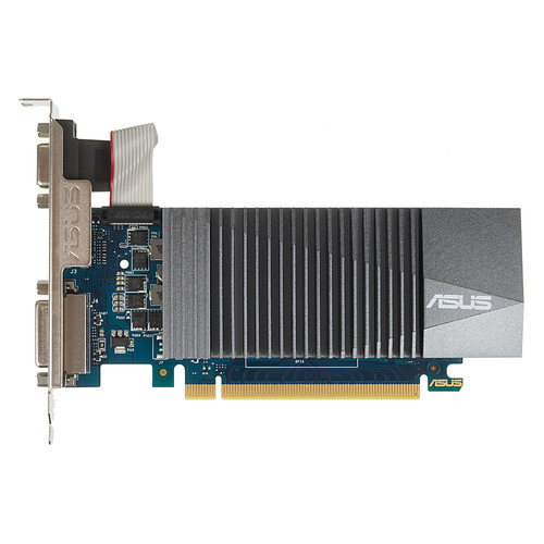 все цены на Видеокарта ASUS nVidia GeForce GT 710 , GT710-SL-2GD5, 2Гб, GDDR5, Ret онлайн