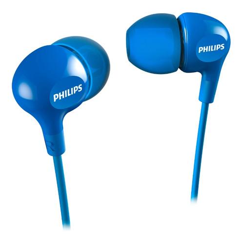 Наушники PHILIPS SHE3550, 3.5 мм, вкладыши, синий [she3550bl/00] наушники philips she3590rd 10 вкладыши красный проводные