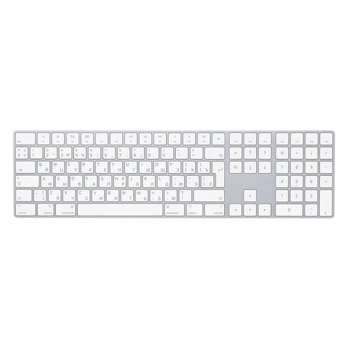 Клавиатура APPLE MQ052RS/A, USB, беспроводная, белый клавиатура apple magic keyboard mq052rs a