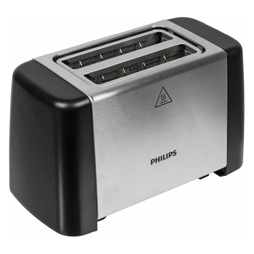 лучшая цена Тостер PHILIPS HD4825/90, черный/серебристый