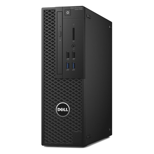 Компьютер DELL Precision 3420, Intel Xeon E3-1220 v5, DDR4 8Гб, 1000Гб, NVIDIA Quadro P600 - 2048 Мб, DVD-RW, Windows 7 Professional, черный [3420-4513] процессор intel xeon e3 1225 v5