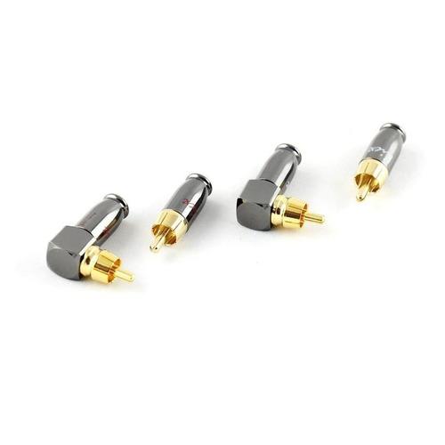 Фото - Коннектор Kicx DRCA-4SA серебристый/золотистый Комплект из 2-х прямых и 2-х угловых металлических RC коннектор kicx quick connector ver 2 черный упак 1шт 2041075