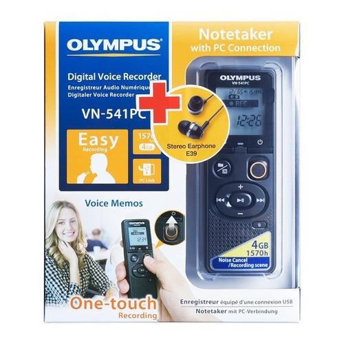 Диктофон OLYMPUS VN-541PC + E39 Earphones 4 Gb, черный цена