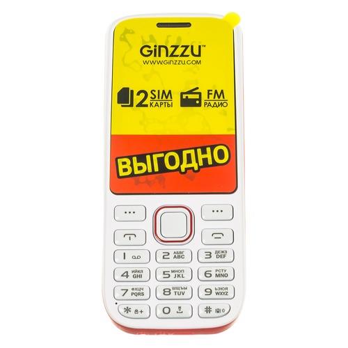 Мобильный телефон GINZZU M201, белый/красный