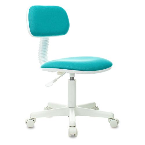 Кресло детское БЮРОКРАТ CH-W201NX, на колесиках, ткань, бирюзовый [ch-w201nx/15-175] кресло детское бюрократ ch w201nx на колесиках ткань розовый [ch w201nx 26 31]