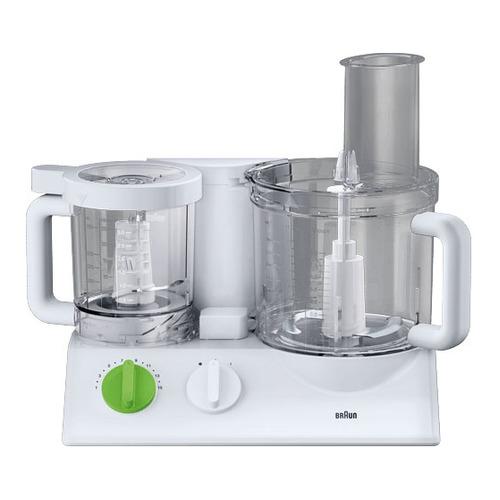 Кухонный комбайн BRAUN FX3030WH, белый/зеленый цена и фото