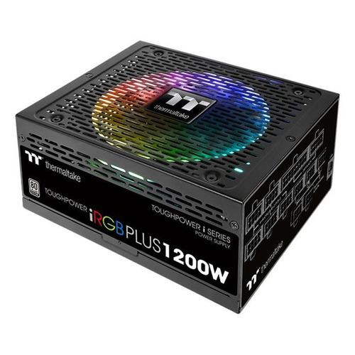 Блок питания THERMALTAKE Toughpower iRGB Plus, 1200Вт, 140мм, черный, retail [ps-tpi-1200f2fdpe-1] блок питания thermaltake toughpower irgb plus 1050вт 140мм черный retail [ps tpi 1050f2fdpe 1]