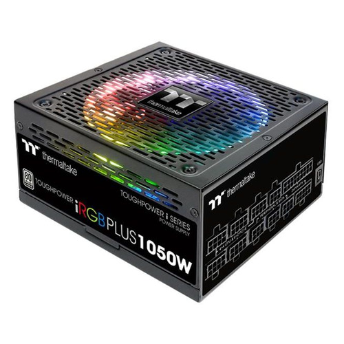 Блок питания THERMALTAKE Toughpower iRGB Plus, 1050Вт, 140мм, черный, retail [ps-tpi-1050f2fdpe-1] блок питания thermaltake toughpower irgb plus 1050вт 140мм черный retail [ps tpi 1050f2fdpe 1]