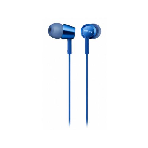 Гарнитура Sony MDR-EX155AP, 3.5 мм, вкладыши, синий [mdrex155apli.e] гарнитура sony mdr ex155ap синяя