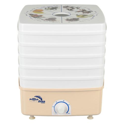 Сушилка для овощей и фруктов РОТОР Дива Люкс СШ-010-04, белый, 5 поддонов цена и фото
