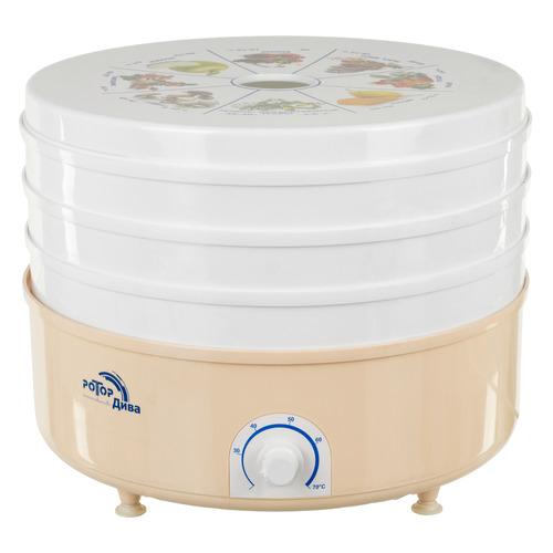 Сушилка для овощей и фруктов РОТОР Дива СШ-007-05, белый, 3 поддона цена и фото