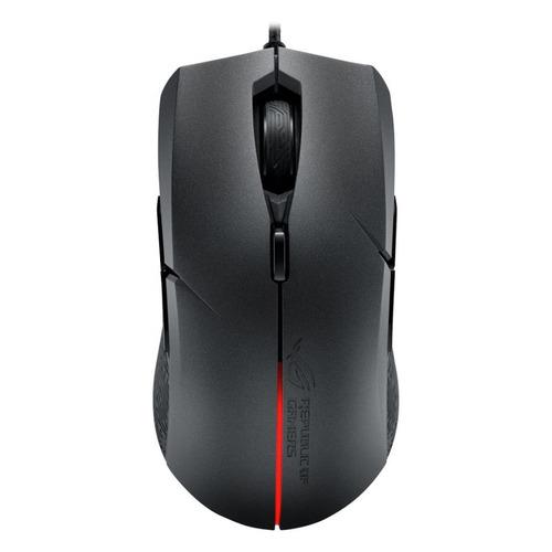Мышь ASUS ROG STRIX Evolve, игровая, оптическая, проводная, USB, черный [90mp00j0-b0ua00] цена 2017