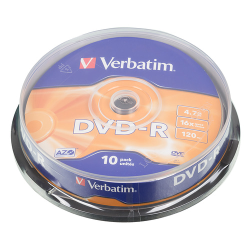 Оптический диск DVD-R VERBATIM 4.7ГБ 16x, 10шт., cake box [43523] капсулы don cortez vigoroso 10шт