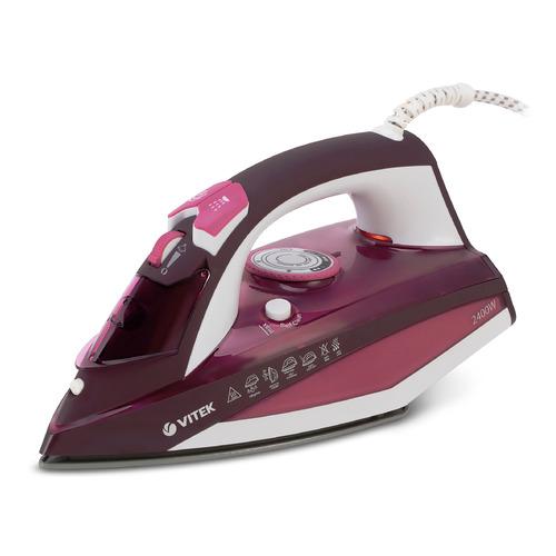 цена на Утюг VITEK VT-1215 PK, 2400Вт, розовый [1215-vt-02]