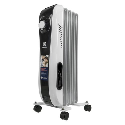 Масляный радиатор ELECTROLUX Sport line EOH/M-5105N, 1000Вт, белый [нс-1100920] биметаллический радиатор rifar рифар b 500 нп 10 сек лев кол во секций 10 мощность вт 2040 подключение левое