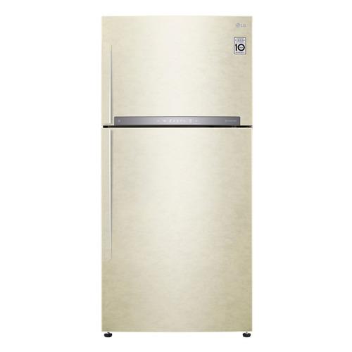Холодильник LG GR-H802HEHZ, двухкамерный, бежевый lg gr m802hmhm