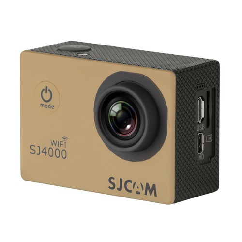 Экшн-камера SJCAM SJ4000 Wi-Fi 1080p, WiFi, золотистый [sj4000wifigold] hk1080ir2 waterproof 1080p hd 1 3 cmos 1 0mp cctv camera w 2 ir led silver