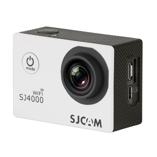 Экшн-камера SJCAM SJ4000 Wi-Fi 1080p, WiFi, белый [sj4000wifiwhite] hk1080ir2 waterproof 1080p hd 1 3 cmos 1 0mp cctv camera w 2 ir led silver