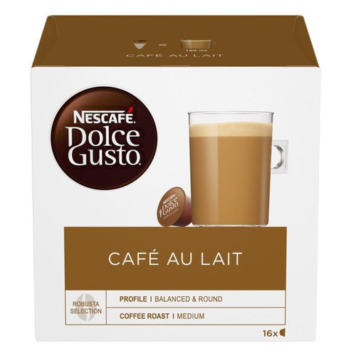 Кофе капсульный DOLCE GUSTO CafeAuLait, капсулы, совместимые с кофемашинами DOLCE GUSTO® [12148061] капсулы caffe tiziano bonini cappuccino compatibile dolce gusto 16шт