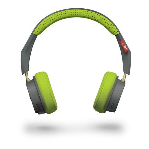 Наушники с микрофоном PLANTRONICS BackBeat 500, 3.5 мм/Bluetooth, накладные, серый/зеленый [207850-01] цена и фото