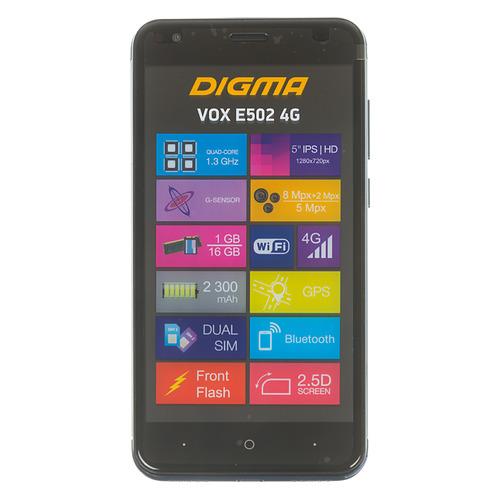Смартфон DIGMA E502 4G VOX, темно-синий цена в Москве и Питере