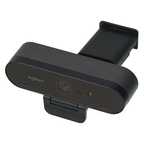 Web-камера LOGITECH Brio, черный и оранжевый OEM [960-001106] камера web logitech pro stream c922 usb2 0 с микрофоном 960 001088 473299 черный