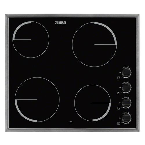 лучшая цена Варочная панель ZANUSSI ZEV56140XB, электрическая, независимая, черный