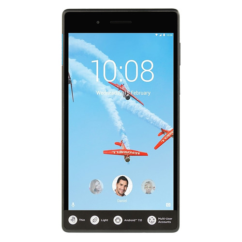 Планшет LENOVO Tab 7 TB-7304X, 1GB, 16GB, 3G, 4G, Android 7.0 черный [za330081ru] ^ a lcd display matrix for 7 irbis tz55 3g supra m74kg tablet 1024 600 lcd screen panel replacement module