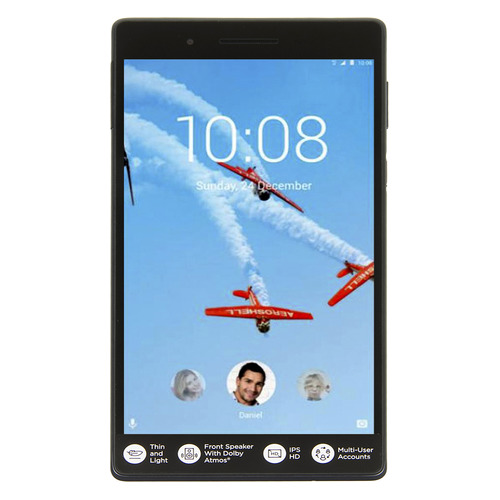 Планшет LENOVO Tab 7 TB-7504X, 1GB, 16GB, 3G, 4G, Android 7.0 черный [za380077ru] inwatch z android 4 2 dual core watch phone w 1 63 screen wi fi gps ram 1gb rom 8gb black