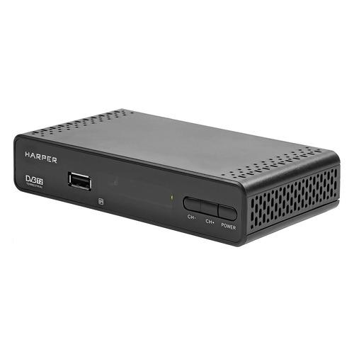 Ресивер DVB-T2 HARPER HDT2-1513, черный ресивер dvb t2 harper hdt2 5010 черный