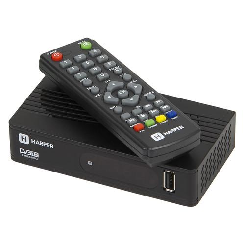 Ресивер DVB-T2 HARPER HDT2-1514, черный ресивер dvb t2 harper hdt2 5010 черный