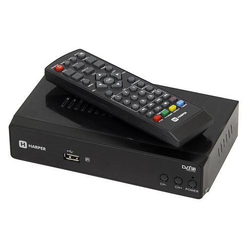 Ресивер DVB-T2 HARPER HDT2-5010, черный ресивер dvb t2 harper hdt2 5010 черный
