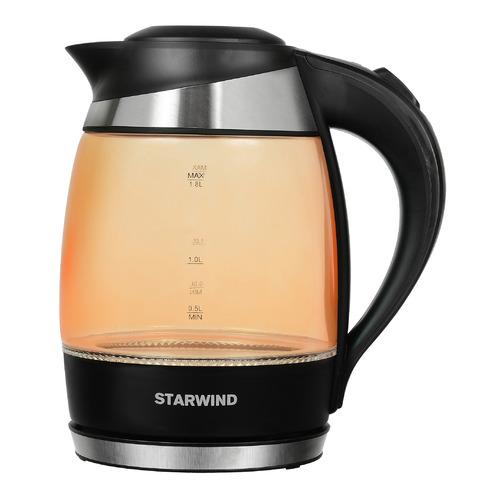 Чайник электрический STARWIND SKG2212, 2200Вт, оранжевый и черный чайник электрический starwind skg2217 2200вт фиолетовый и черный